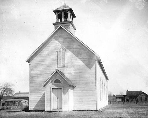First Methodist Episcopal Church of Pokagon – the original Old Rugged Cross Church in Pokagon – was where the final version of Rev. George Bennard's hymn, The Old Rugged Cross, was first sung publicly in 1913 during a revival.