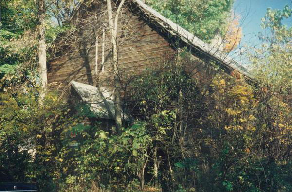 The Old Rugged Cross Church building is shown in 1978, after 64 years as a barn.